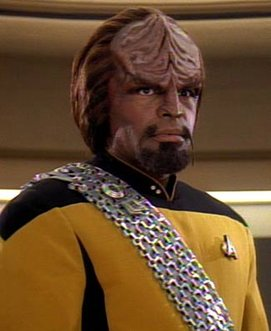 Commander Worf of 'Star Trek: The Next Generation.'